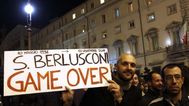 A change from the norm ... Italians who turn 18 next year were just born when Berlusconi first became prime minister in 1994.
