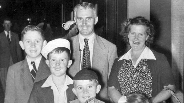 Dynamic dynasty … Don Kirby with his family at the Royal Easter Show in 1951; above, with his wife, Jean, and in 1988.