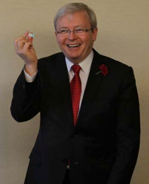 Out of the loop ... Kevin Rudd.