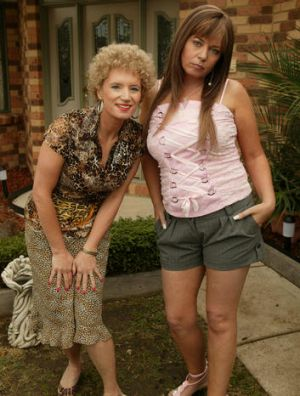 The foxy ladies in the TV series.