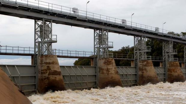 Targets diluted ... the main weir at Menindee.
