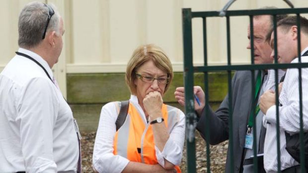The State Coroner, Mary Jerram, visits the site.