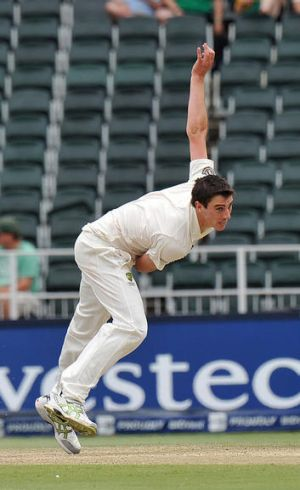 The postman: Pat Cummins delivered figures of 6/79, youngest Australian to take five wickets in an international innings.