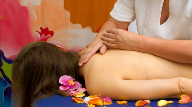 In good hands … gentle pressure applied during a shiatsu massage.