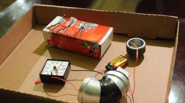 A replica of the bomb terror suspect Jose Pimentel is alleged to have made. Police say they detonated the device in a ...