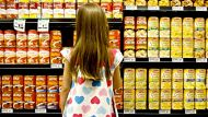 A little girl visits a Woolworths supermarket shopping centre retail children shopping grocery Vegemite generic.AFR NEWS ...