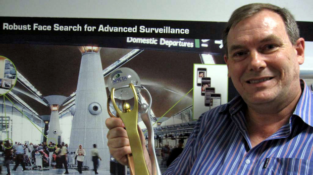 University of Queensland professor Brian Lovell won an international award for applying face recognition to low-quality ...