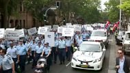 NSW police protest