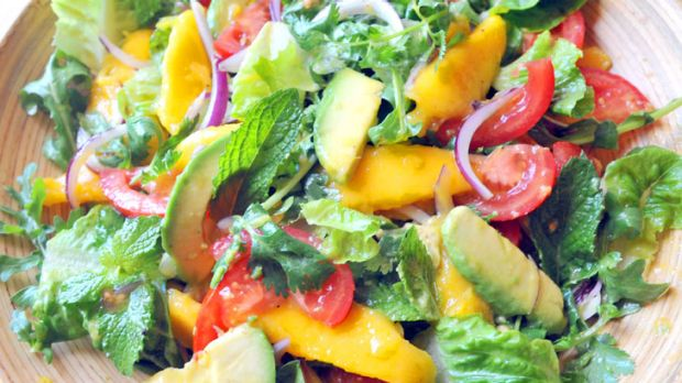 Get more from your greens ... add avocado to salads.