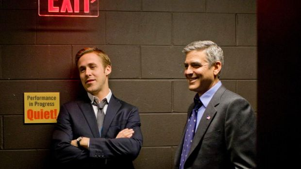 Ryan Gosling and George Clooney in <i>The Ides of March</i>