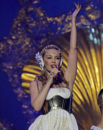 Kylie Minogue kicks off her Aphrodite-Les Folies Australian Tour.