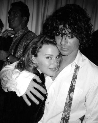Kylie Minogue with Michael Hutchence.