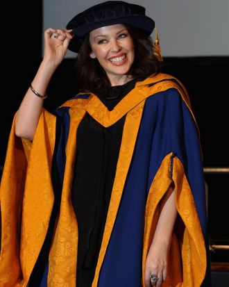 Kylie Minogue receives an Honorary Degree at Angela Ruskin University.