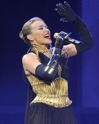 Kylie Minogue in concert at Rod Laver Arena, 2008.