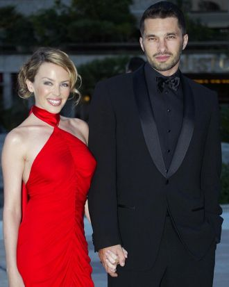 Kylie Minogue and Olivier Martinez in Monte Carlo, 2003.