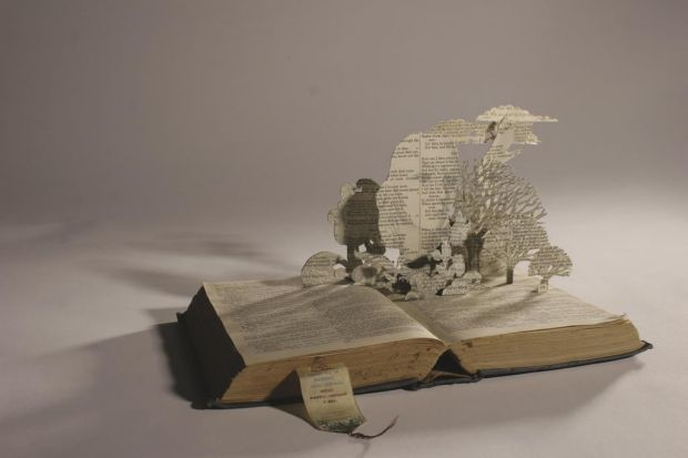 Book sculpture by artist Holly Ormrod (www.ngart.com.au).