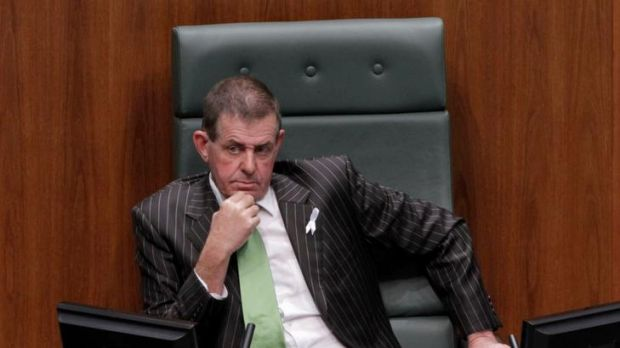 Signalled changes ... new Speaker Peter Slipper.