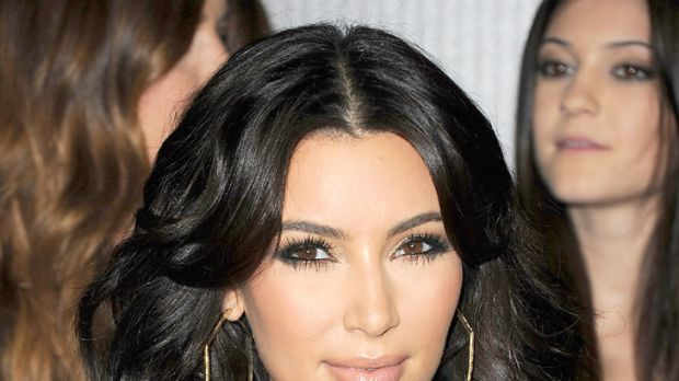 Big hair is big news ... Kim Kardashian.