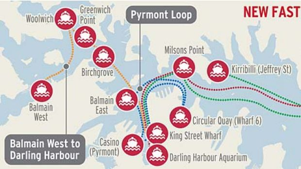 All aboard ... Sydney's new ferry routes.