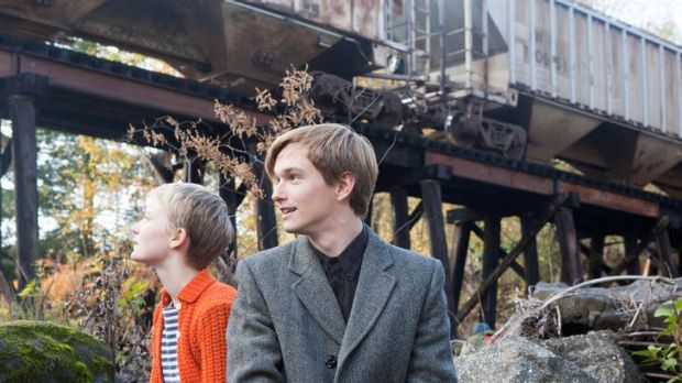 Morbid passengers ... Enoch (Henry Hopper) struggles with his feelings for Annabel (Mia Wasikowska) as she goes gently ...