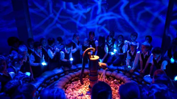 Well of knowledge ... schoolchildren are engrossed in the interactive exhibition Aqua: A Journey into the World of ...