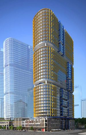 Valuable ... an artist's impression of one of the site's new towers.