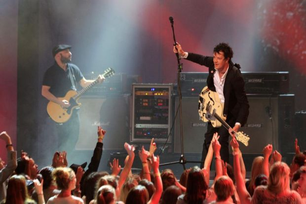 The Living End perform at the Arias.