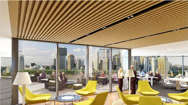 An artist's impression of the Suncorp South Bank headquarters.