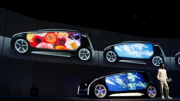 The whole body of the concept car can be used as a display space, with the body colour and display content changeable at ...