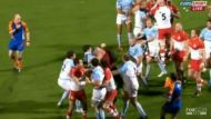 Father jumps in on rugby brawl (Video Thumbnail)