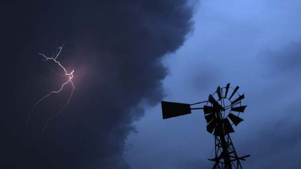 There'll be some weather about … a thunderstorm near Goulburn this week.