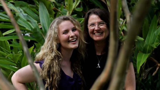 Leaps and bounds … Chelsea Giles and her mother, Belinda, at home in Como West. Chelsea will enter university next ...