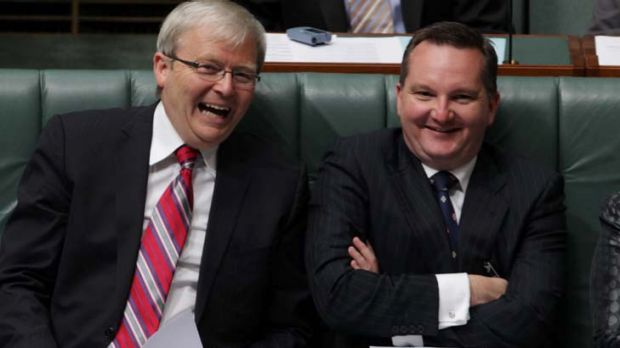 """""""We have the Malaysia arrangement ready to go"""" ... Chris Bowen, right."""