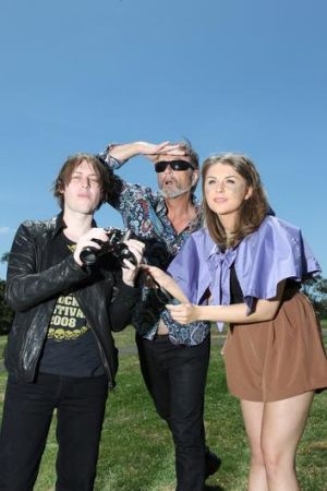 Looks good ... (from left) Craig Nicholls (the Vines), Steve Kilbey (the Church) and Brooke Addamo (Owl Eyes) are among ...