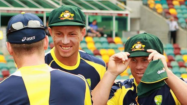 James Pattinson and David Warner receive their first test caps.