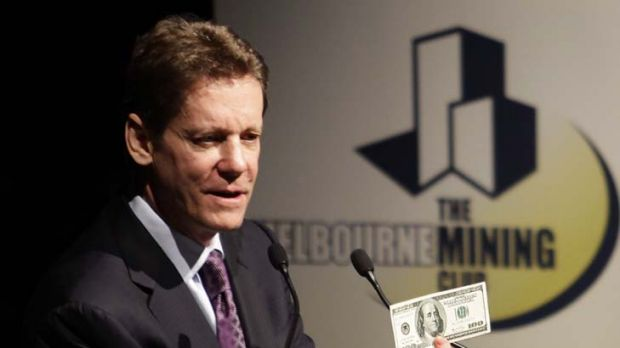 Mining magnate Robert Friedland reassures the Melbourne Mining Club at Melbourne Town Hall yesterday about Australia's ...
