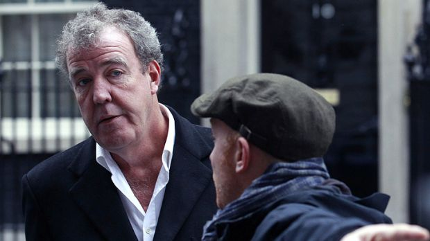 More trouble ... Jeremy Clarkson speaks to a member of his crew.