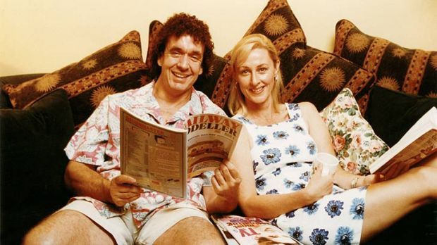 The early days ... Grubby and Dee Dee.