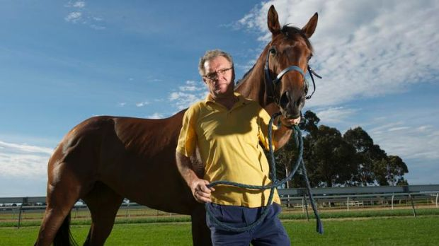 Racehorse trainer John Gunning, at Pakenham racecourse, is considering buying one of the properties on the new ...