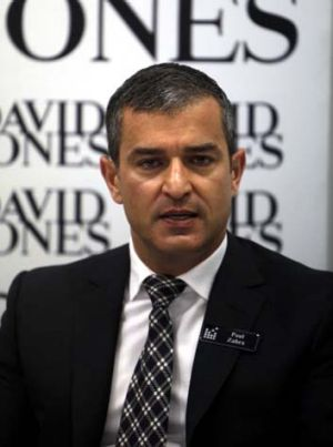 David Jones chief executive Paul Zahra tells it like it is at the retailer's AGM yesterday.