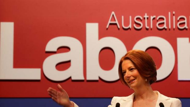 Prime Minister Julia Gillard at the Labor Party's national conference.
