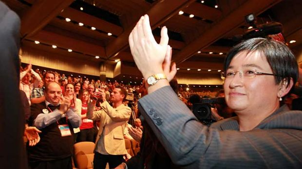 Senator Penny Wong thanks delegates for voting in favour of same-sex marriages.