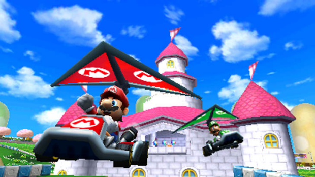 Mario Kart 7 looks much better running at 60 frames per second on the 3DS than in still screenshots