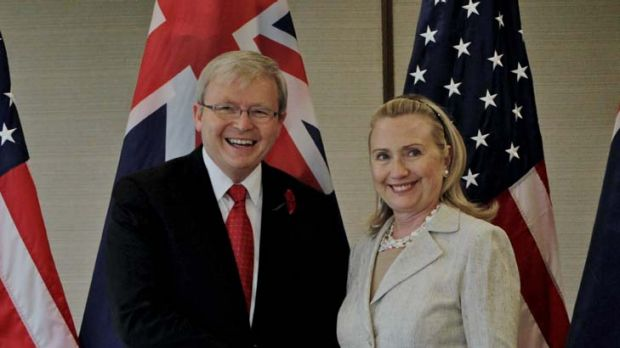 The Beijing embassy was able to find only one brief mention of the leaked cable on the Clinton-Rudd talks.