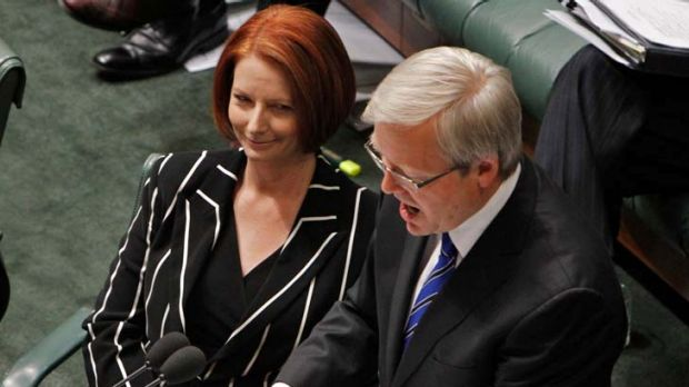 """Every time Gillard begins to build some political momentum, Rudd plays the party pooper."""