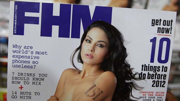 Front cover furore ... Veena Malik is suing over this photo.