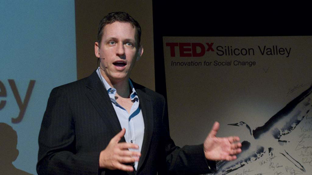PayPal co-founder and Facebook's first outside investor, Peter Thiel.