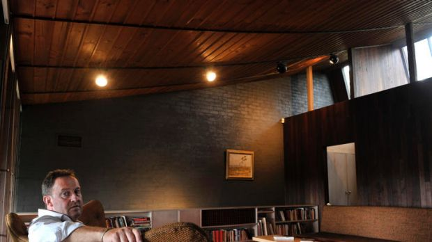 Tony Lee, head of the Robin Boyd Foundation, in Boyd's Walsh Street, South Yarra  home, which now acts as the ...