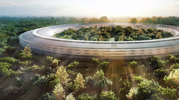 Apples proposed new headquarters is pictured in an artistic rendering.