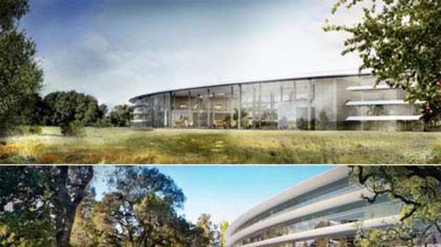The new building will be made using large panels of glass, like several Apple stores.